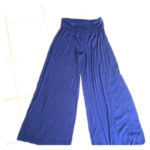 Sharagano Navy Blue Palazo Pants